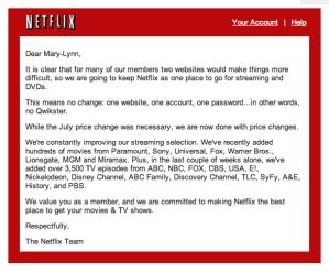 Netflix RIP Qwikster announcement